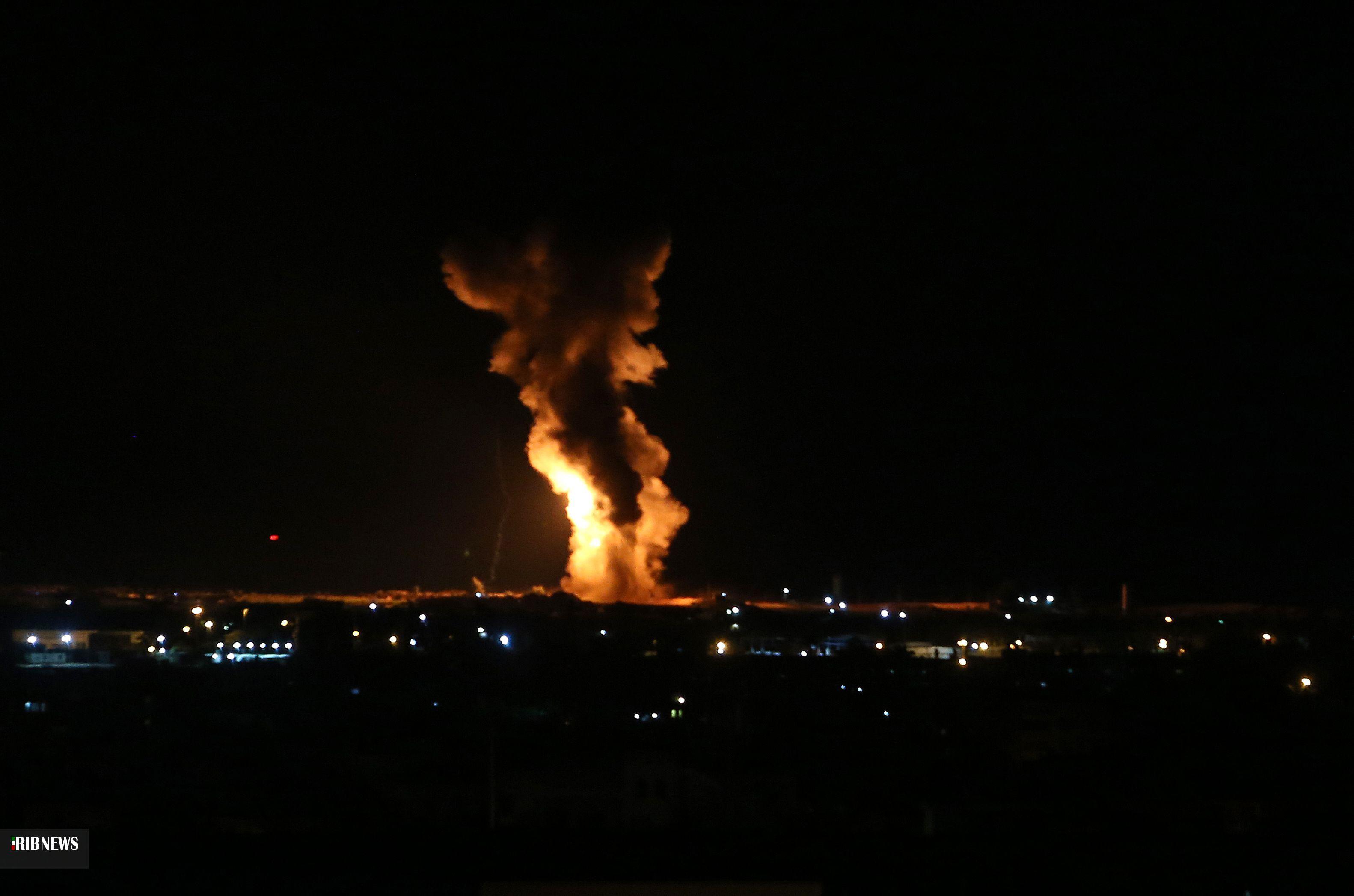حمله موشکی غزه