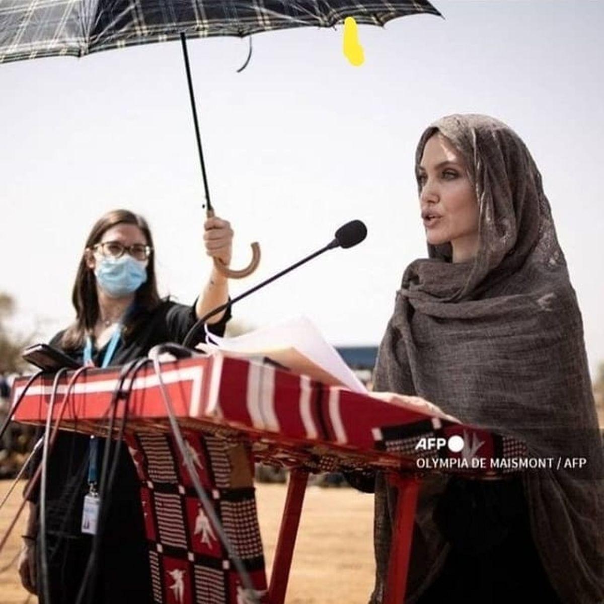 حجاب آنجلینا جولی سوژه داغ رسانه ها شد