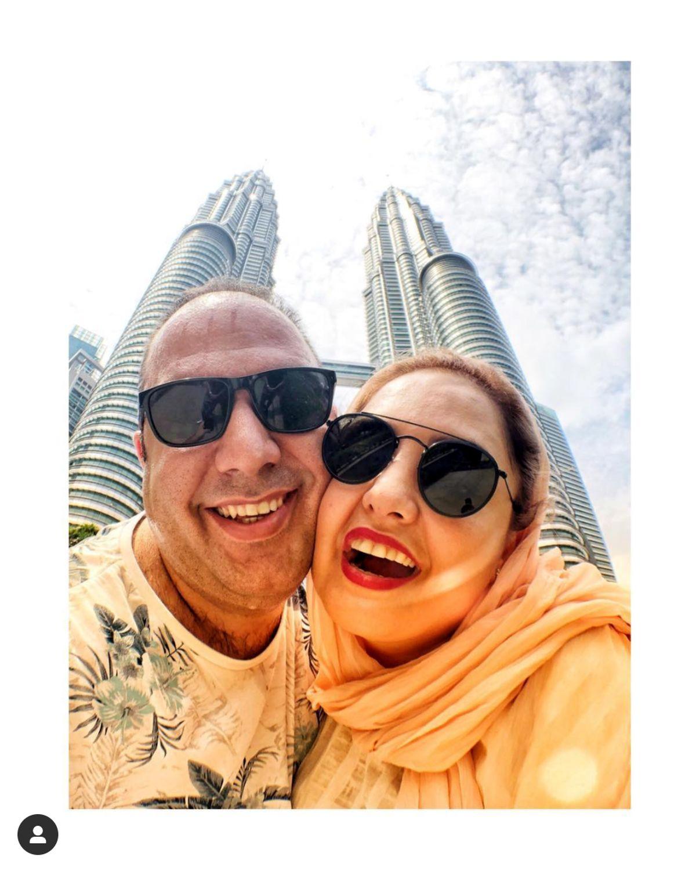 استانبول گردی نرگس محمدی با لباس های عجیب