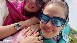 عکس جدید بهاره رهنما و همسرش در کنار افسانه چهره آزاد در تفریحات لاکچری شمال