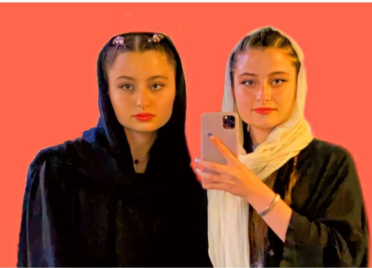 بازگشت سارا و نیکا به ایران  لایو+ 18 سارا و نیکا