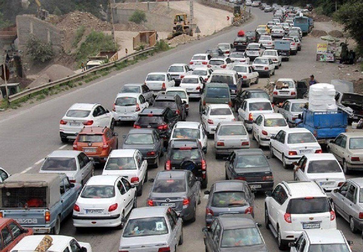 ترافیک سنگین در جاده هراز / وضعیت جاده ها در محدودیت کرونایی