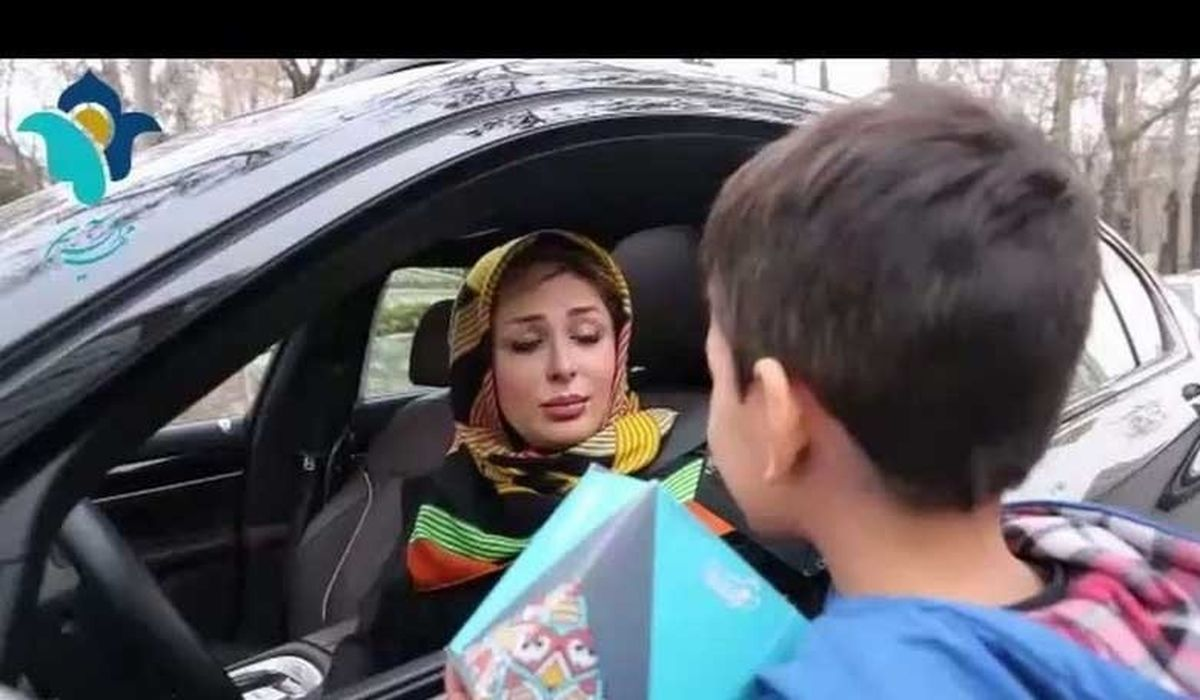 """واکنش نیوشا ضیغمی از کودک کار """" رضا """"  در برنامه ماه عسل + عکس"""