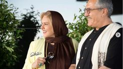 افسانه چهره آزاد و همسرش در جشنواره جهانی فجر
