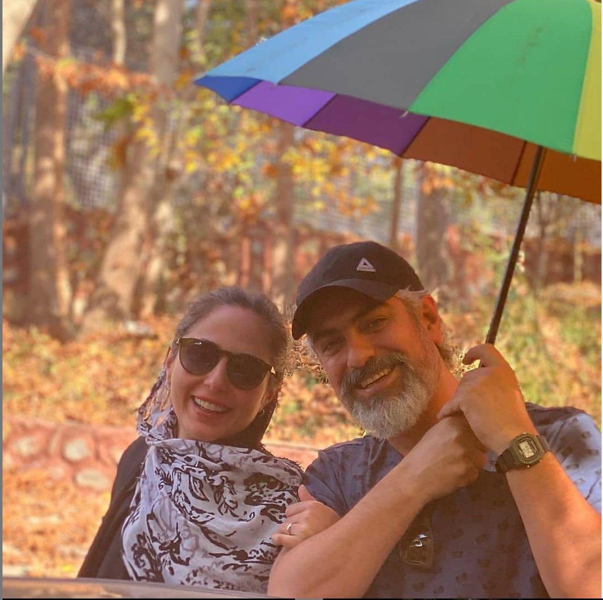 ست جالب رعنا آزادی ور با همسرش مهدی پاکدل