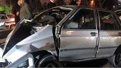تصادف وحشتناک در خیبان پیروزی منجر به له کردن ۷ ماشین شد
