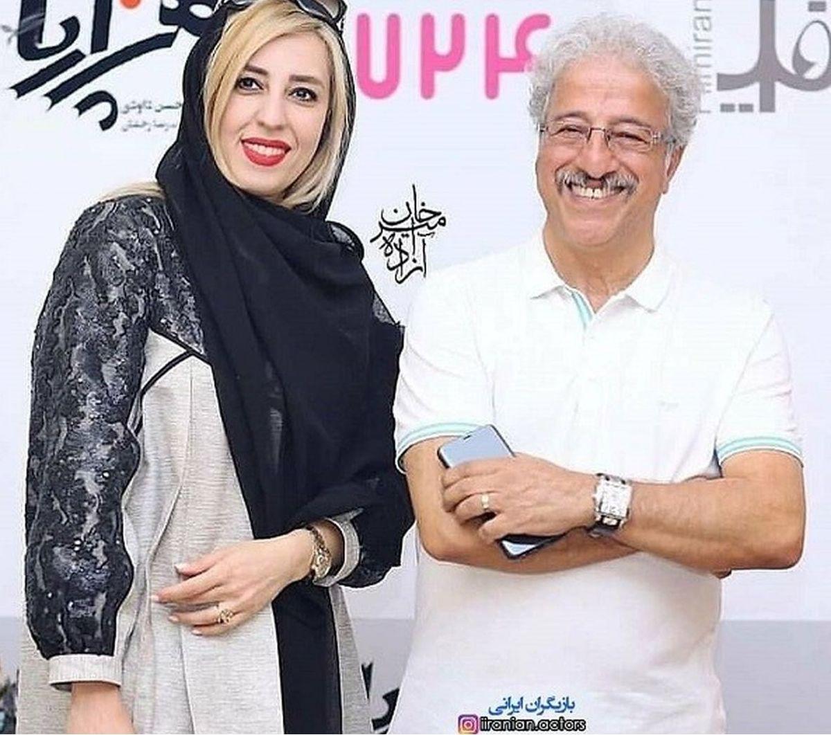 عکس سه نفره علیرضا خمسه با فهمیه و رحمت